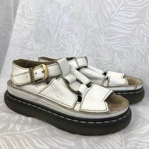 DR MARTENS vintage leather buckle strap sandals